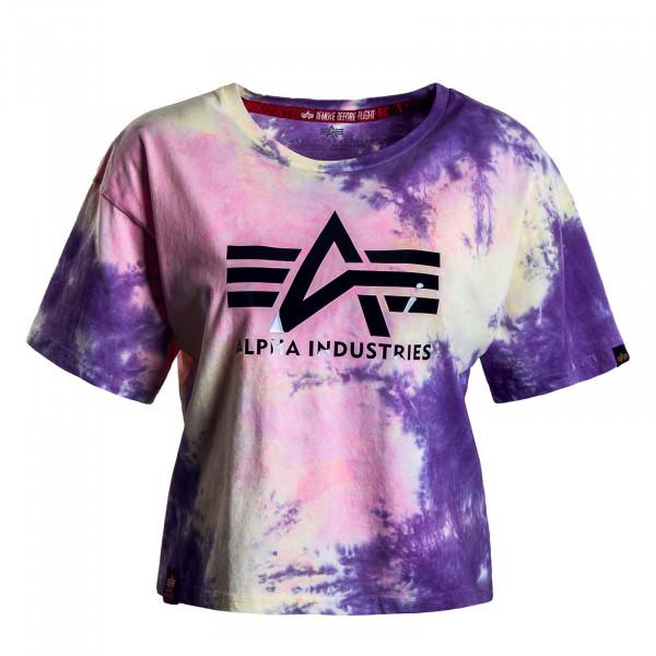 Damen T-Shirt - Big A Batik - Purple / Batic