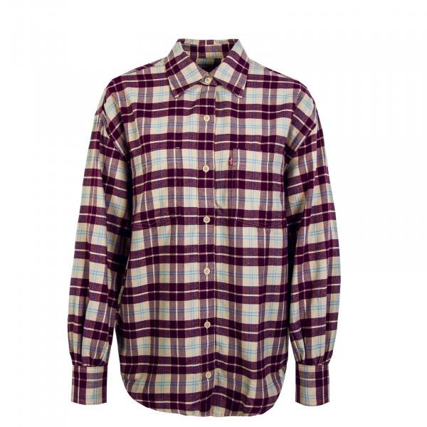 Damen Bluse - Remi Utility Shirt Grace - Plaid Plum