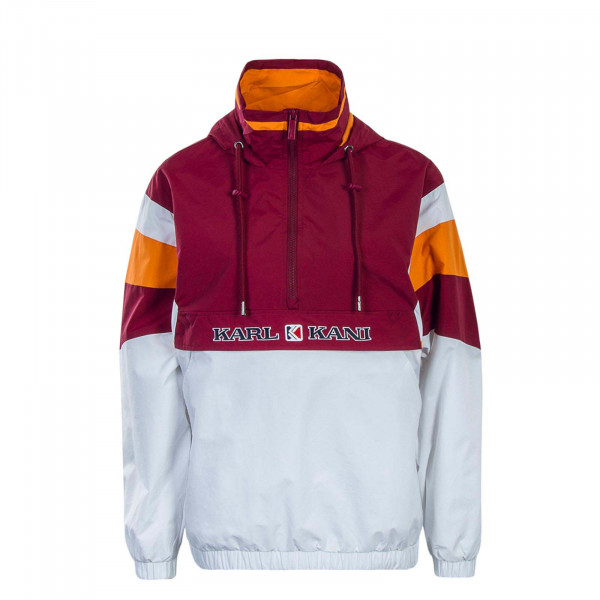 Herren Windrunner  Retro Block Bordeaux White