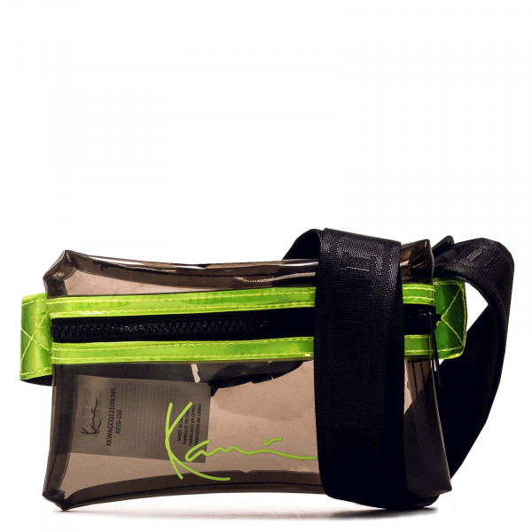 Unisex Hip Bag - KK Signature Transparent - Lime