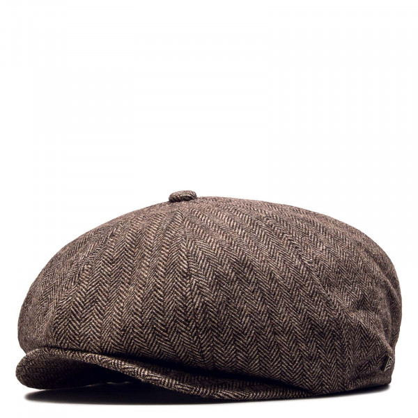 Cap Newsboy Herringbone Brown