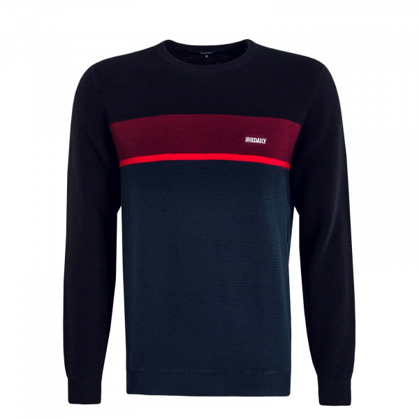 Herren Knit Auf Track Stripe Black Red