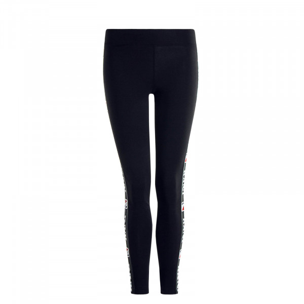 Damen Leggings Tape Black