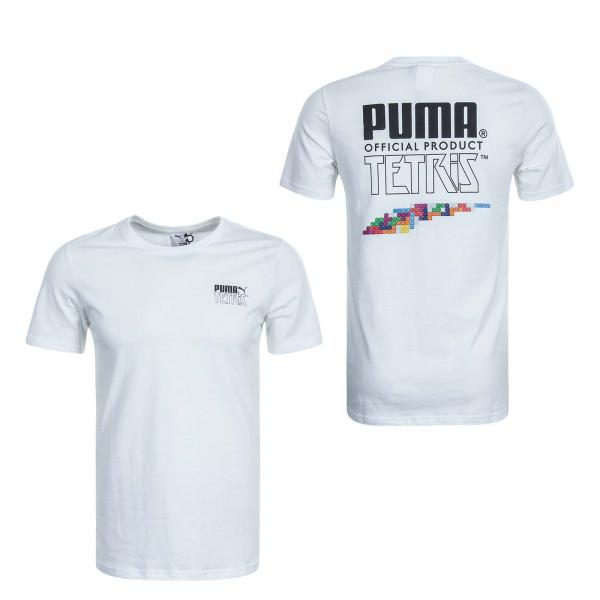 Herren T-Shirt Puma x Tetris White