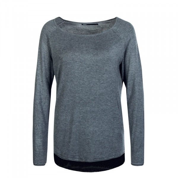 Damen Longsleeve Mila Lacy Medium Grey