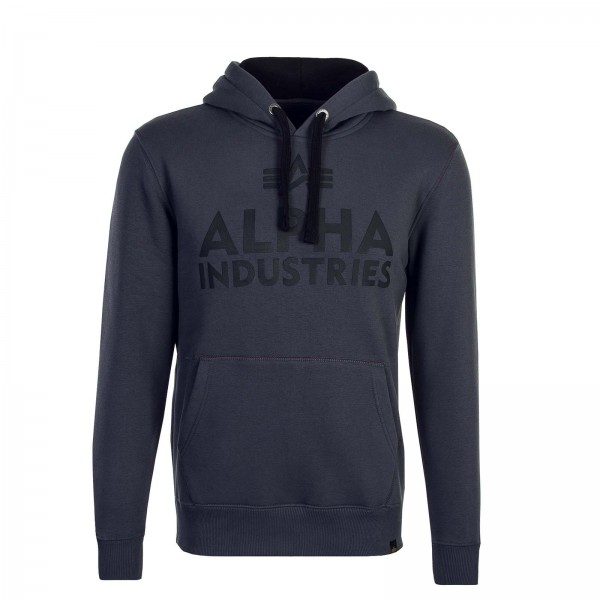 Alpha Hoody Foam Print Grey Black Black