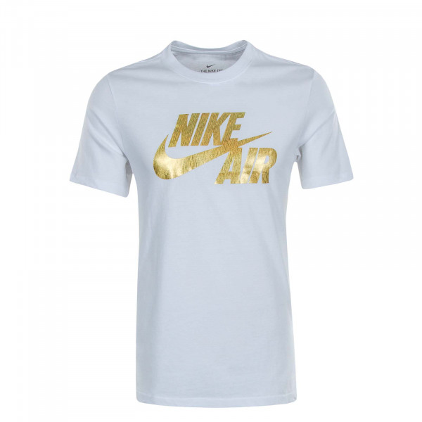 Herren T-Shirt NSW Preheat Nike White Gold Foil