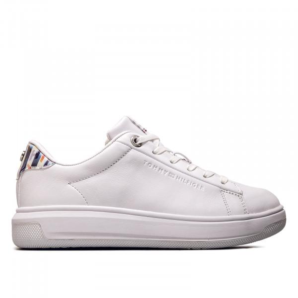 Damen Sneaker - Monogram Leather Cupsole - White
