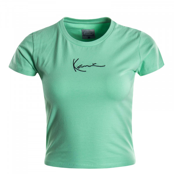 Damen T-Shirt Crop Signature Green