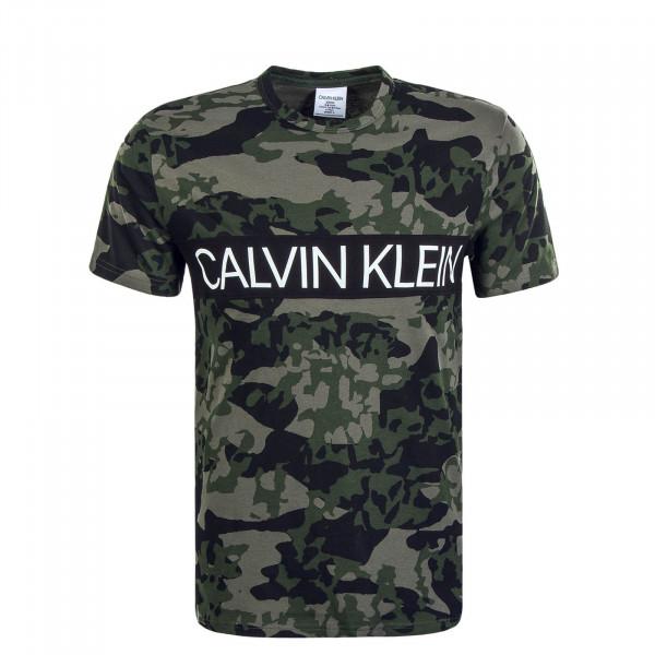 Herren T-Shirt Crew Neck Animal Camouflage