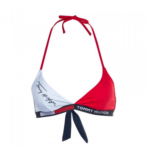 Bikini 2176 Triangle Fixed Red White