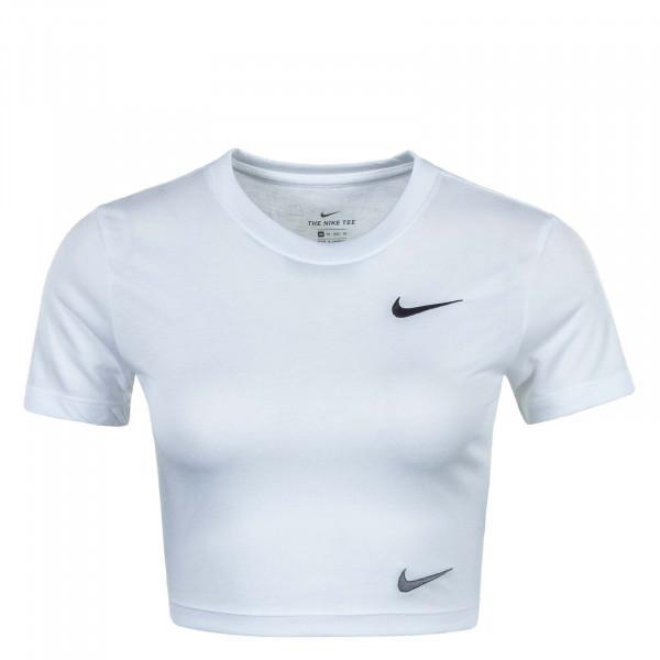Damen T-Shirt NSW Slim Crop LBR White