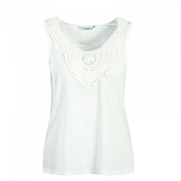 Damen Top Lisa Crochet Off White