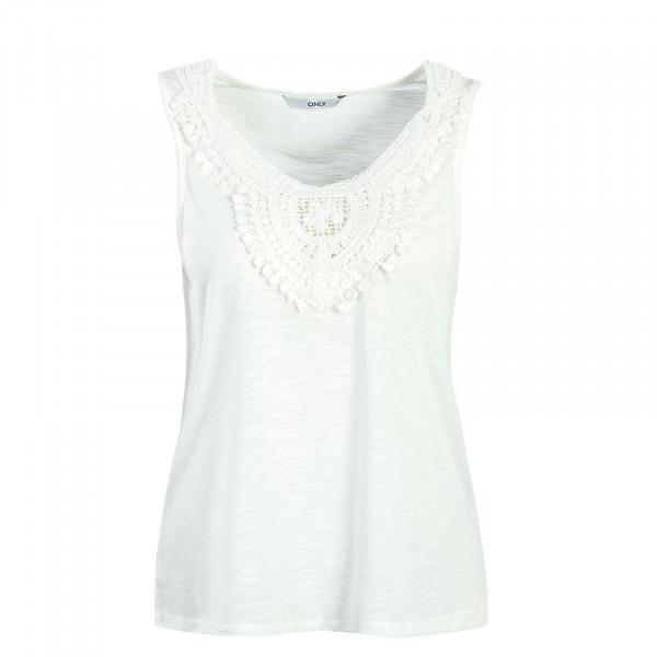 Damen Top Lisa Crochet Off White
