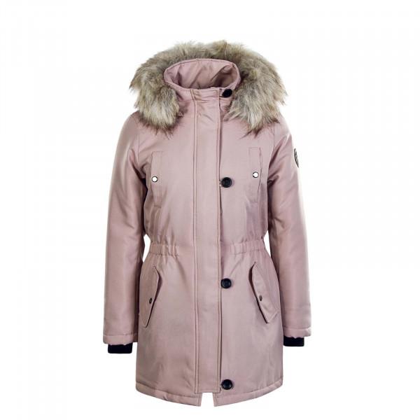 Damen Mantel Iris Fur Rosa