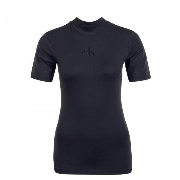 Damen T-Shirt Center CK Silicone Black