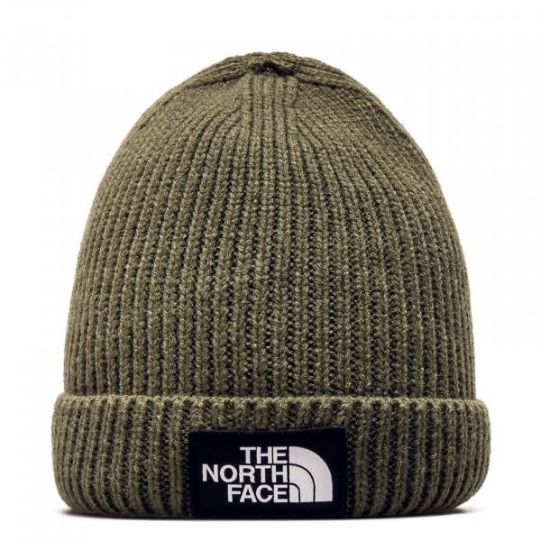 Northface Beanie Logo Box Olive
