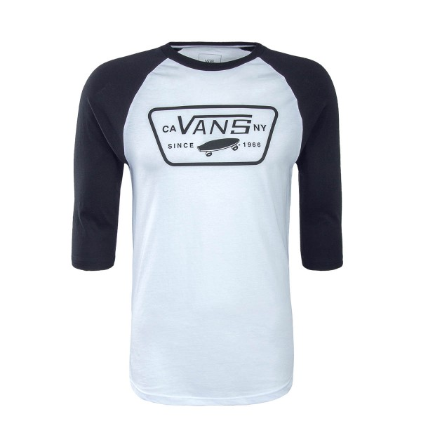 Vans LS Full Patch Raglan White Black