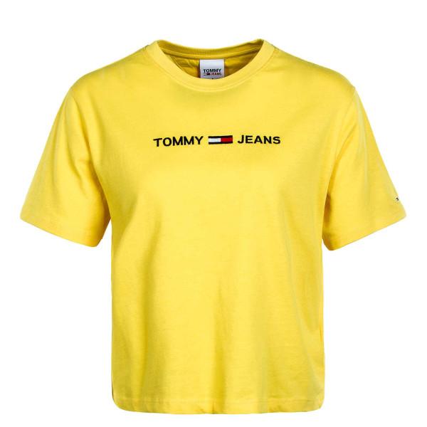 Damen T-Shirt Modern Linear Logo 8615 S.F. Yellow