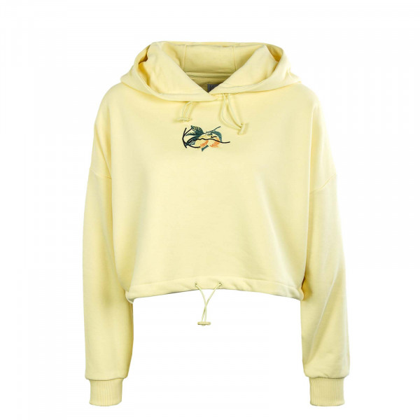 Damen Hoody - Small Signature Crop - Light Yellow