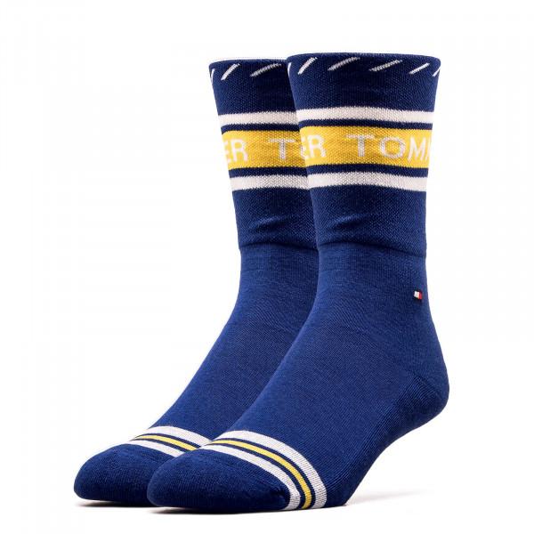 Damen Socken 493010001 Logo Navy Yellow