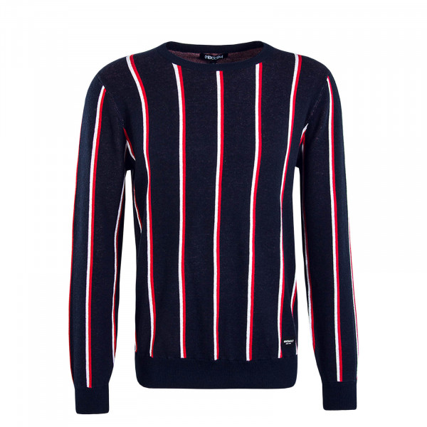 Herren Knit Upndown Navy Red White