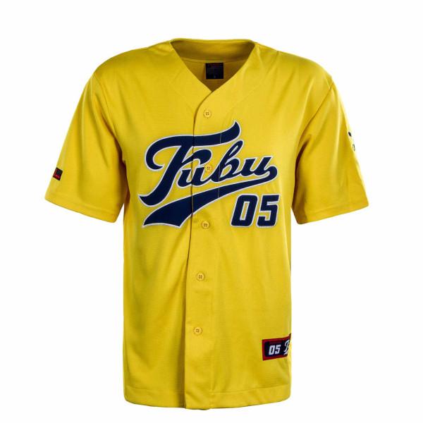 Herren T-Shirt Varsity SSL Baseball Jersey Yellow Navy