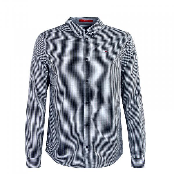 Herrenhemd TJM Essential Gingha Black White