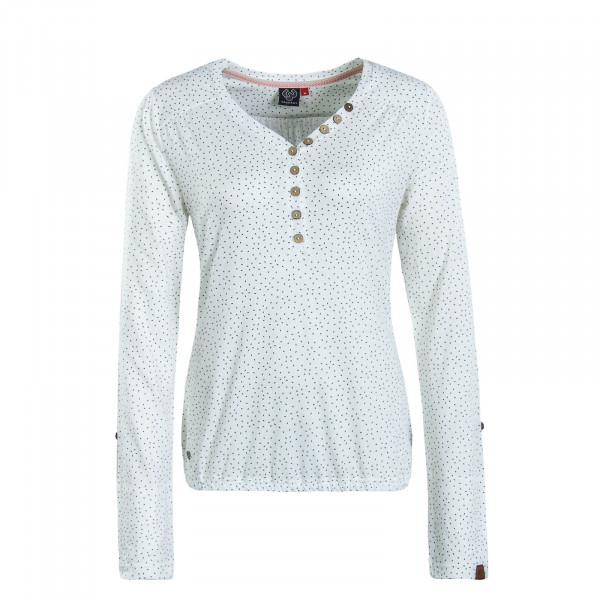 Damen Longsleeve Pinch White