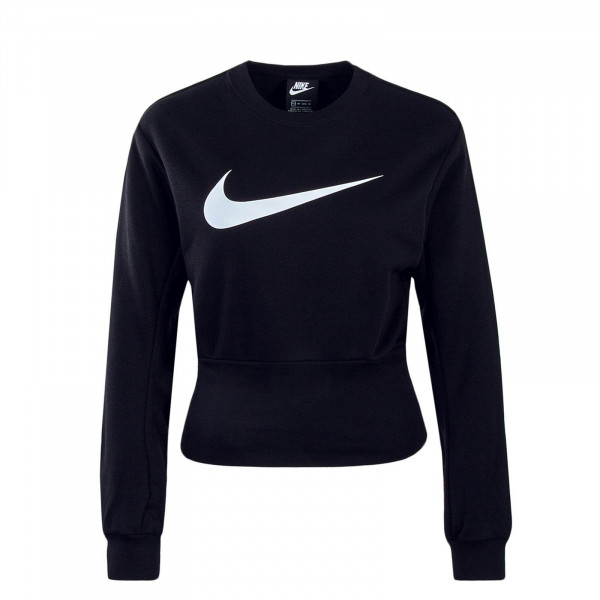Damen Sweatshirt Swoosh Black White