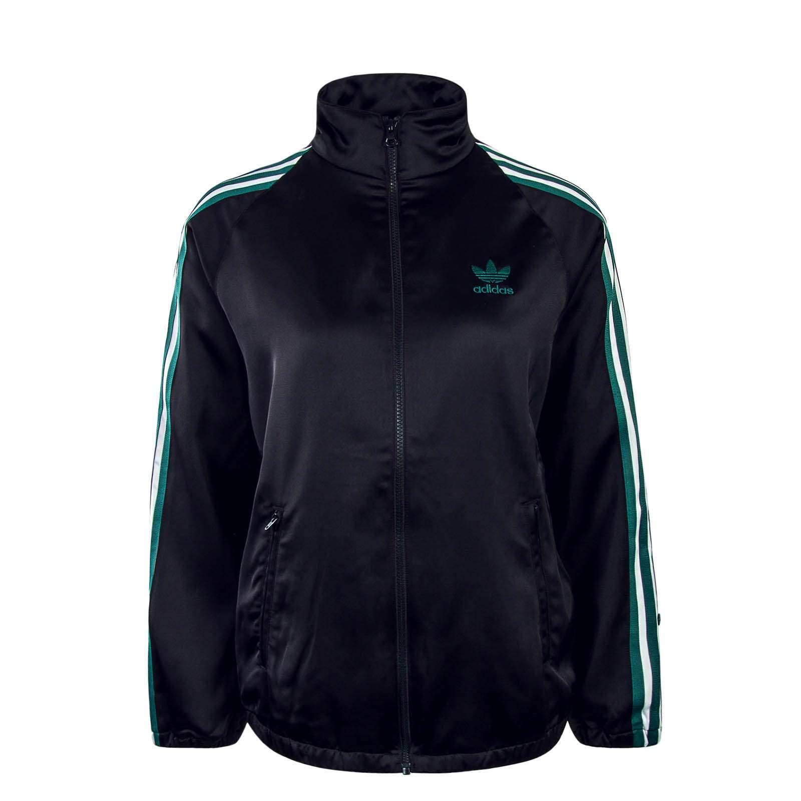 Damen Trainingsjacke Satin Black Green