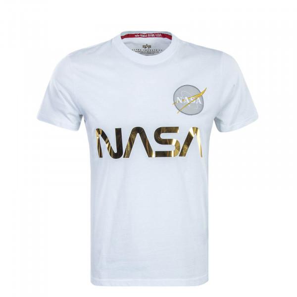 Herren T-Shirt Nasa Reflective White Gold