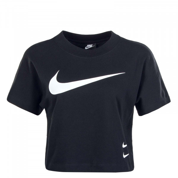 Damen T-Shirt NSW SWSH Top Black