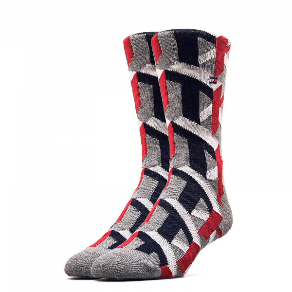 Socken 492028001 Grey Red White