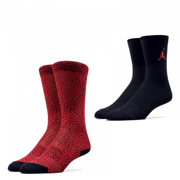 Nike Jordan Socks SX 5859 2er Pack Black Red