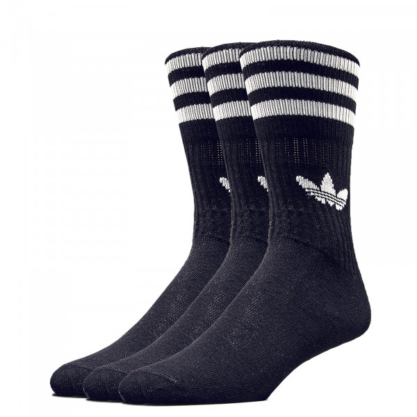 Socken Solid Crew Black White