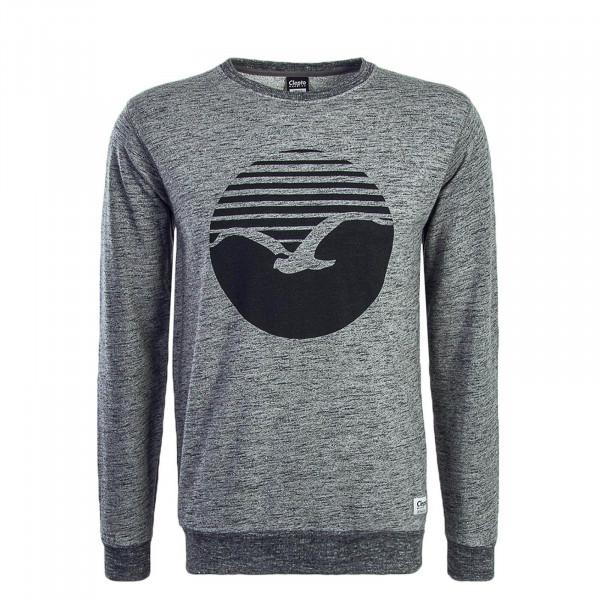 Clepto Sweat Vintage Print Grey Black