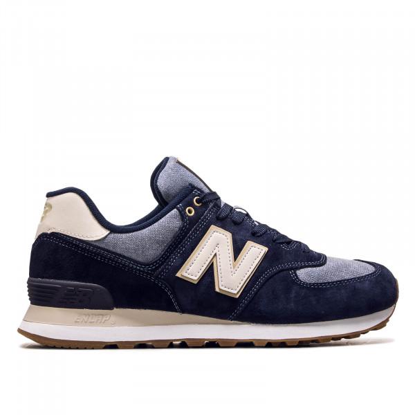 Herren Sneaker ML574 SNJ Navy Beige Blue