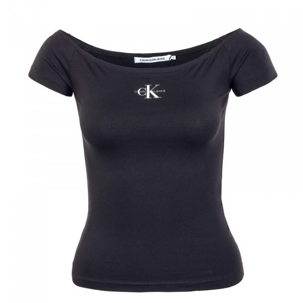 Damen T-Shirt - Monogram Slim Bardot 7165 - Black