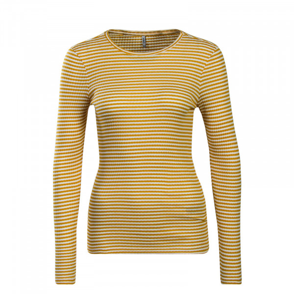Only LS Tina Stripe Yellow White
