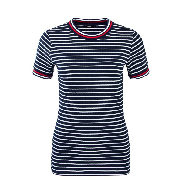 Only TS Lou Stripe Navy Wht Red