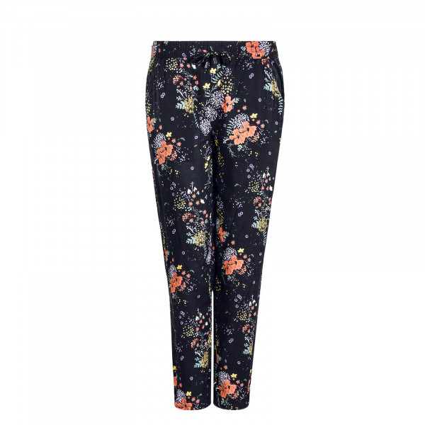 Damen Pant 61869 Flowers Black