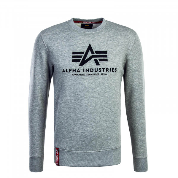 Alpha Sweat Basic Grey Black
