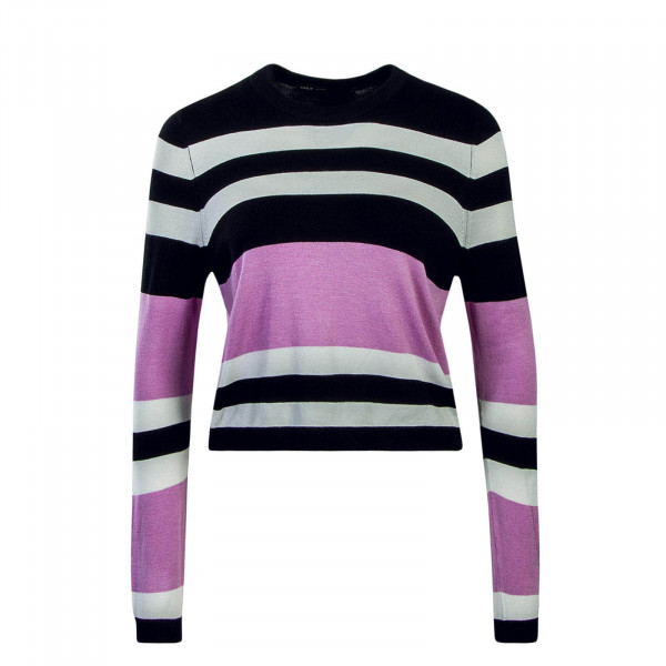 Damen Longsleeve Houston Black White Pink