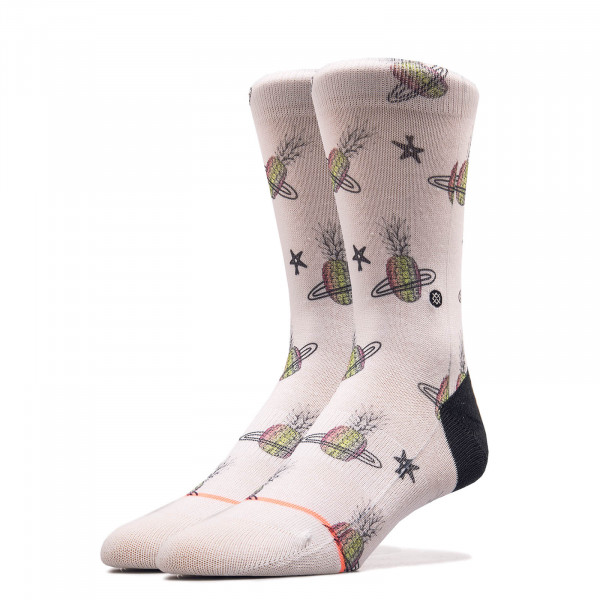 Damen Socken Pineapple Planet White