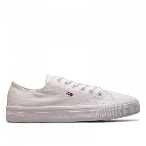 Damen Sneaker Long Lace Up Vulc White