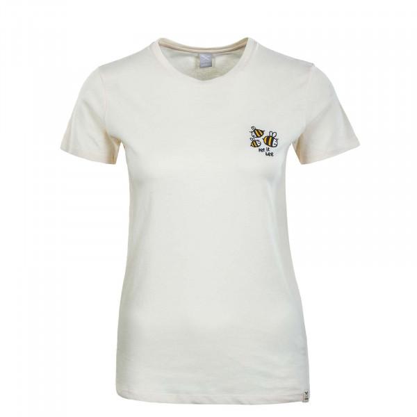 Damen T-Shirt - Let it Bee - Vanilla
