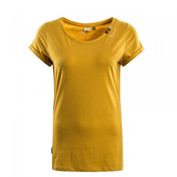 Damen T-Shirt  Florah A Organic Yellow