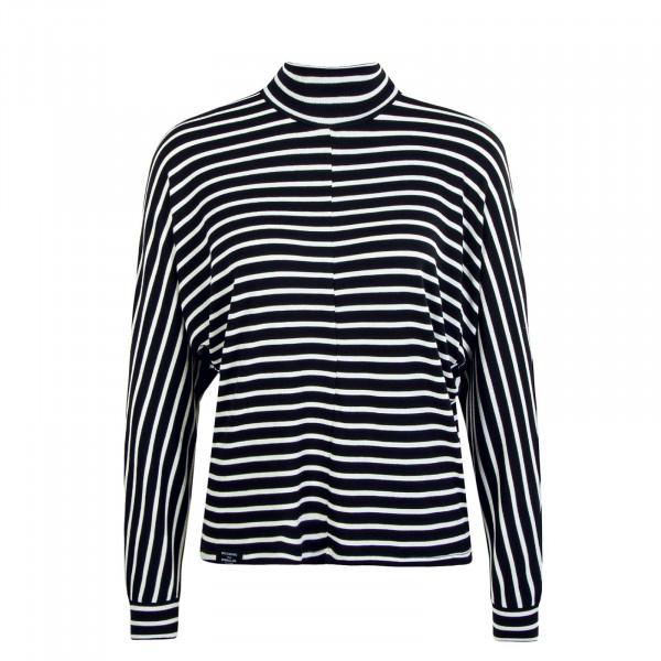 Damen Longsleeve  Frabasia Stripe Black White