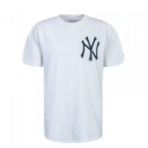 Herren T-Shirt MLB Oversized NY White